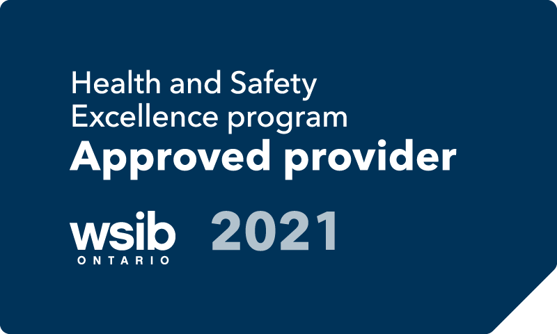 IHSA is a WSIB Health and Safety Excellence program Approved provider