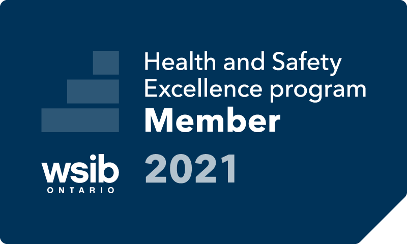 IHSA is a WSIB Health and Safety Excellence program Member