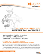 Occupational Health Risks: Sheet Metal Workers