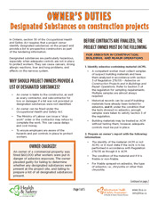 Owner's Duties: Designated Substances on Construction Projects