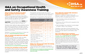 Questions and Answers on Occupational Health and Safety Awareness Training