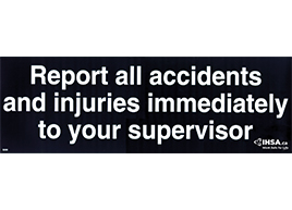 Report All Accidents ..