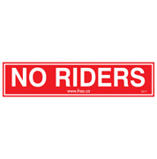 No Riders Decal (pkg ..