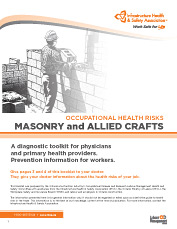 Occupational Health Risks: Masonry and Allied Trades
