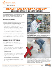 Health and Safety Advisory: Scleroderma